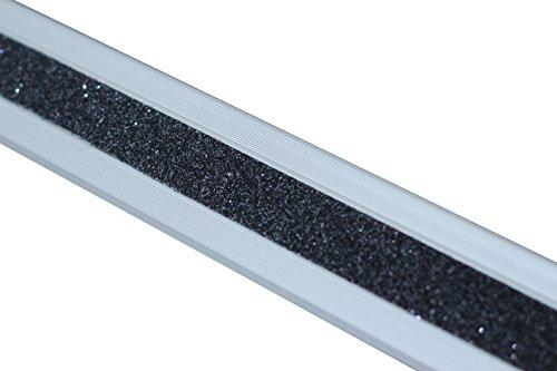Antideslizante Escaleras borde Perfil Aluminio M2Glitter Grip Negro 53x 610x 31mm), ATM8SF2sk