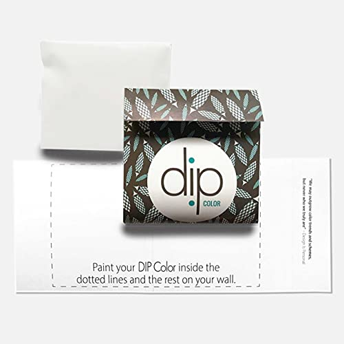 DIP Whisk Interior Paint Ultra-Matte Quick Dry – Sample Pouch. Cool White. 100% Recyclable Packaging. Easy to clean or touch up. Premium Quality, Low-VOC-One-Coat Hide