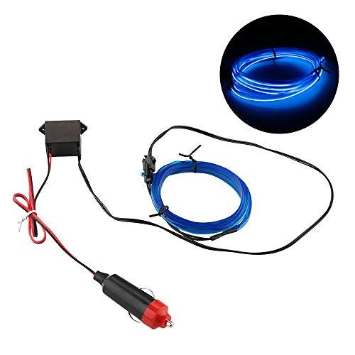 CNSD 1M de Coches de neón Flexible del Alambre lámpara Decorativa Luz Tiras Auto Car Styling Lámparas Luces de la decoración de Interiores 12V LED frío (Emitting Color : Blue)