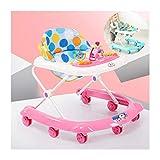 CJW-LC 4 Velocidades De Altura Ajustable Andadores De Bebé, Andador De Bebé Plegable Multifunción Antivuelco, Caminante para 6 A 18 Meses Niños Y Niñas,A