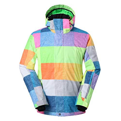 OMING Skianzüge Winter Herren Ski-Anzug wasserdichte atmungsaktiv windabweisend Skijacke Warme Einplatinen-Doppelbrett Skibekleidung Skianzüge für Mädchen (Color : A, Size : M)
