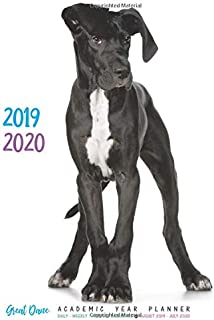 2019 - 2020 Great Dane Academic Year Planner: Daily - Weekly - Monthly Calendars August 2019 - July 2020