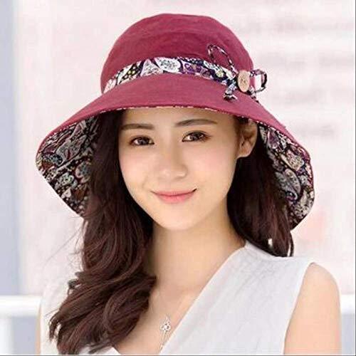 Sombrero de Cubo de Flores de Doble Cara para Mujer Sombrero de...