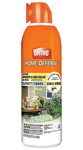 Ortho 0438006 Home Defense Backyard Mosquito & Bug Killer Area Fogger: Also Works on Gnats, Flies, Wasps, Mites & Stink Bugs, for Outdoor Use, 16 oz