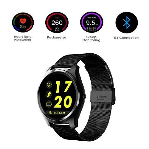 Slimme sportarmband, smartwatch, fitnesstracker met stappenteller, calorieën en nieuwigheidsarmbanden met drukmonitor