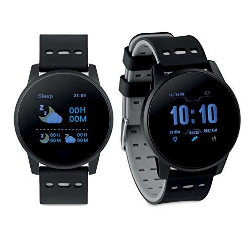 Pulsera Actividad Bluetooth 4.0 en Silicona. Batería Recargable de Li-Pol 180 mAh. Funcion con aplicación Gratuita Wearfit Disponible para iOS y Android, Disponible en Negro, Gris y Verde (Gris)