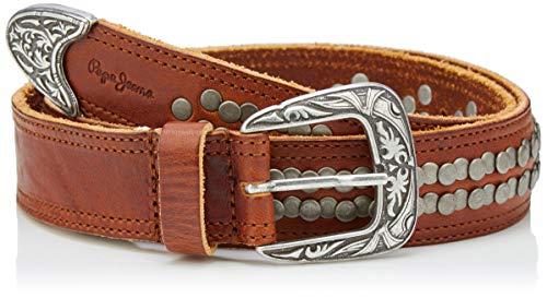 Pepe Jeans Cinturón, Marrón (Tan 869), 80 (Talla del fabricante: Medium) para Mujer