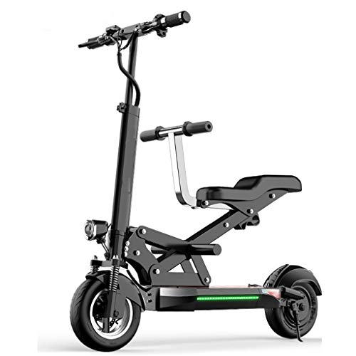 H-CAR QW Patinete Eléctrico Plegable E-Scooter, Velocidad 55km/h, neumátic antirreventón Tubeless de...