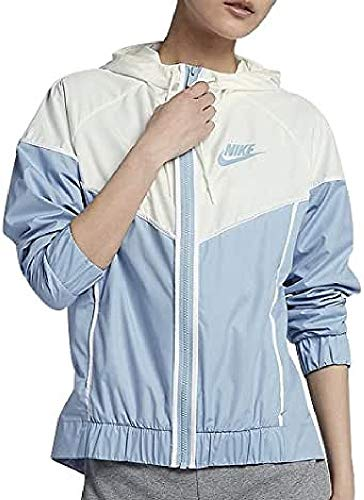 Nike Damen NSW Windrunner Windjacke, Leche Blau/Sail/Weiß, L