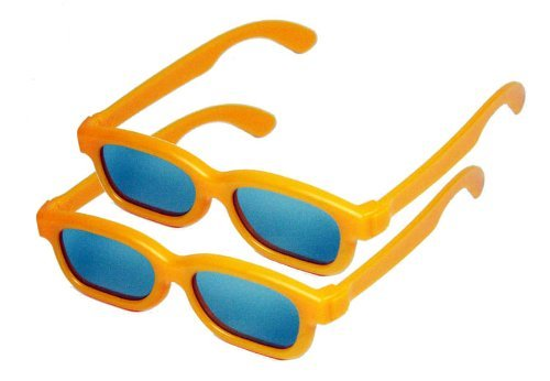 Children's Passive 3D Glasses for Kids - 2 PAIRS - RealD Compatible - Home Cinema or Theater - Vizio, LG, Toshiba, Phillips, JVC, Panasonic