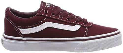 Vans Unisex-Kinder Ward Canvas Sneaker, Rot (Leinwand) Port Royale / Weiß 8j7), 38 EU