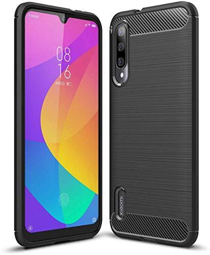 Capa Capinha Anti Impacto Para Xiaomi Mi 9 Lite Tela De 6.39 Case Com Desenho Fibra De Carbono - Danet (Preto)