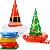 Antler Ring Toss Game Christmas Party Game Inflatable Reindeer Antler Ring Toss Game (2 pack hat)