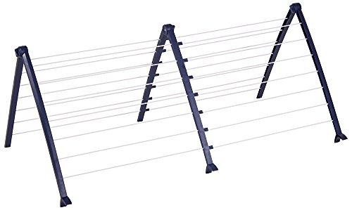 CASA SI ausziehbar Wäscheständer bathFlex 8-17m, Blau