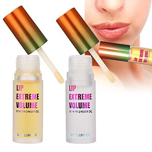 Huile essentielle pour les lèvres pulpeuses, rehausser la lèvre complète, hydrater les lèvres, rides légères des lèvres, hydrater l'huile des lèvres(pour une utilisation de jour + de nuit)