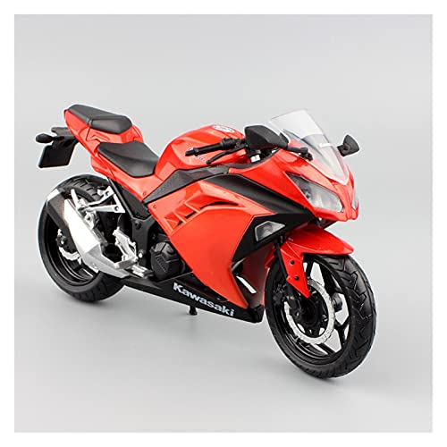 El Maquetas Coche Motocross Fantastico 1:12 para Kawasaki Ninja 300 Competición Simulación Aleación Motocicleta Modelo En Miniatura Colección Regalo Juguete Coche Regalos Juegos Mas Vendidos