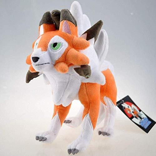 26cm Lycanroc Lycanroc Peluche Detuge Muñeca Pokémon Anime Figuras Rockruff Evolution Edition Relleno Suave Acompañamiento Puppet Niños Niños Cumpleaños Jikasifa