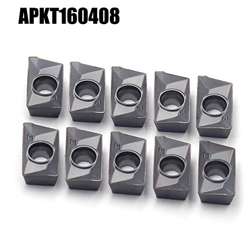 Multilayer Coated APKT Style Pack of 10 Cobra Carbide 42754 Solid Carbide Indexable Milling Insert APKT 1604 PDR-HM CM14 Grade 0.031 Radius 0.375 Thick