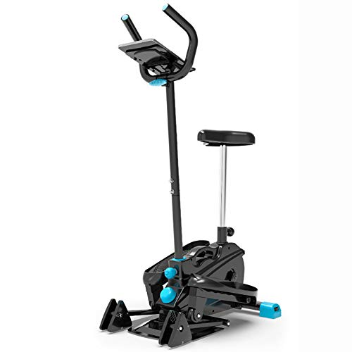 Sunny Health & Fitness Stepper with Handle Bar and Ergonomic Comfort Seat Step Machine Ladder Fitness Cardio Training Silent Motion