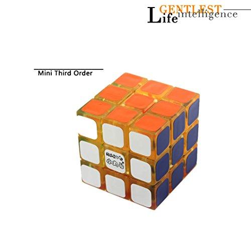 EasyGame-- Mini Cubo mágico 3X3x3, Tormenta de Velocidad de 30mm Puzzle Rompecabezas de Cristal Juguetes