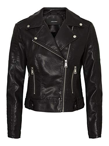 Vero Moda Vmkerriultra Short Coated Jacket Noos Giacca, Nero, XS Donna