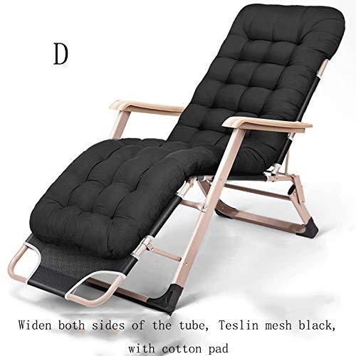 n/a Folding Recliner, Folding Chair Lunch Break Nap Bed Backrest Chair Lazy Couch Beach Home Leisure Portable Balcony Lounge Chair,Dark Gray, Dark Blue, Dark Black, Red