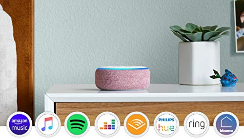 Echo Dot (3ª generazione) - Altoparlante intelligente con integrazione Alexa - Tessuto malva