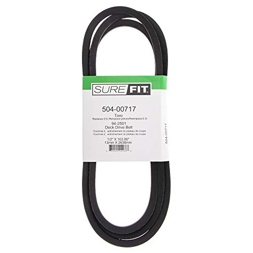 SureFit Deck Drive Belt Replacement for Toro 94-2501 42' 48' 52' Cut 300 GT Series Recycler 260 Lawn Mowers