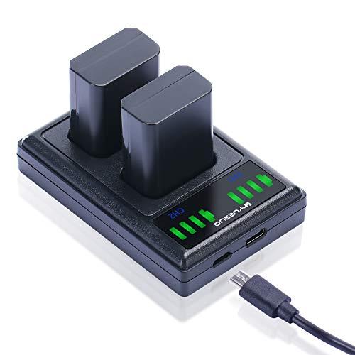 NP-FW50 YUESUO - Cargador de batería para cámara de fotos compatible con Sony A6000 A6500 A6300 A6400 A7 A7II A7RII A7SII A7S A7S2 A7R A7R2 A55 A5100 RX10