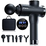 Gifts for Men Muscle Massage Gun, Deep Tissue Percussion Massager Gun for Relaxation, Handheld Electric Body Massager for Neck and Back Leg Muscle,Carry Case & 6 Heads Included