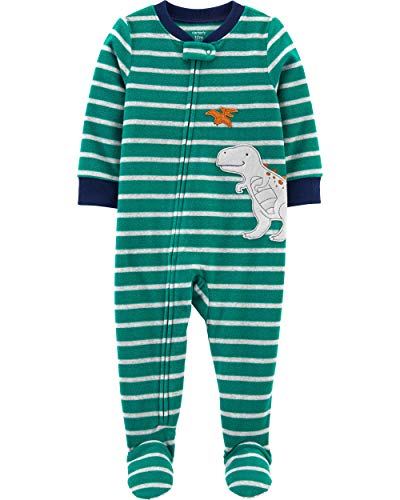 Carter's Interlock para meninos 115g219, Green Stripe/Dino, 24 Months