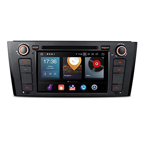 KAUTO 7 Android 10 Car Stereo para BMW E81 E82 E88, Car Radio 4G + 64G 8 - Core Navegación GPS Reproductor de DVD Unidad Principal Soporte CarAutoPlay Android Auto Bluetooth Dab + DVR TPMS WiFi