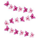 Bestyard Papiergirlande Schmetterling Banner 3D Schmetterling Wimpelkette Girlande für Hochzeit Geburtstag Party Babyparty Rosa