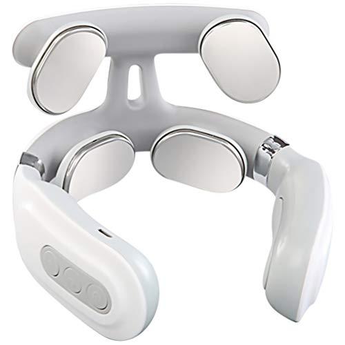 EXCEART 1Pc Neck Massager Massageador Cervical 3D Elétrica Inteligente Tecidos Profundos Massagem Ponto de Disparo Alívio Da Dor No Pescoço E Ombro Massager No Escritório de Casa Ao Ar