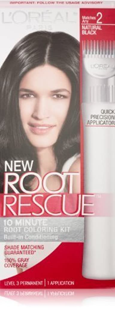 ダイバー優雅大洪水L'Oreal Root Rescue, No.2 Natural Black by L'Oreal Paris Hair Color [並行輸入品]