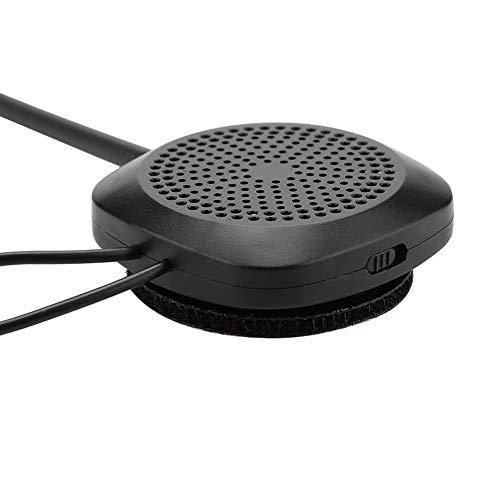 Yisenda Auriculares para Casco Bluetooth, función de Llamada Auriculares para Casco Control por Voz Tiempo de Trabajo prolongado con Cable de Datos para Moto