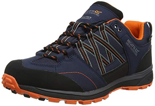 Regatta Samaris Low II Low Rise Hiking Boots Men, Blue (Denim/Blue 40i), 8 UK (42 EU)