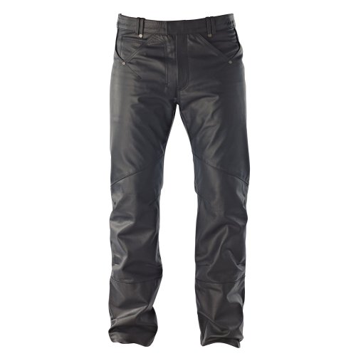 IXON Heren broek Rock LEATHER BLACK Large zwart
