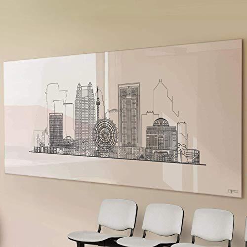 Glas-Whiteboard | Sicherheitsglas | Reinweiß | Rahmenlos | 8 Größen (90x120 cm)