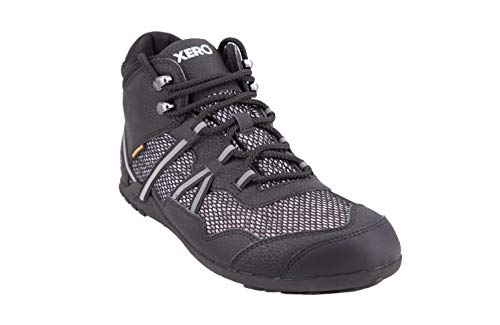 Xero Shoes Xcursion - Women's Waterproof Minimalist Lightweight Hiking Boot - Zero Drop Wide Toe Box Vegan Black
