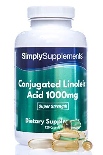 CLA Ácido Linoleico Conjugado 1000mg - ¡Bote para 4 meses! - 120 Cápsulas - SimplySupplements