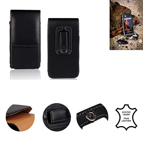 K-S-Trade® Gürtel Tasche Für Caterpillar Cat S31 Handy Hülle Leder Schwarz, 1x