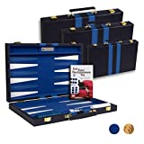 Get The Games Out Top Backgammon Set - Classic Board Game Case 15' Medium Size - Best Strategy & Tip Guide - Available...