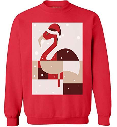 Awkward Styles Christmas Flamingo Sweatshirt Flamingo Ugly Christmas Sweater Red S