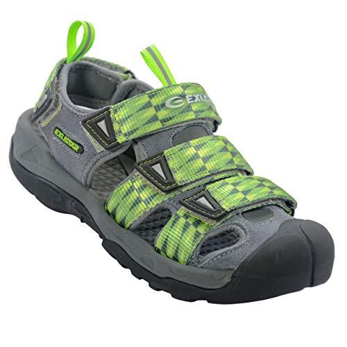Exustar E-SS515A Clipless Sandal 45-46 Euro or 11-12 US<4:4Green/Gray (E-SS515A-4546)