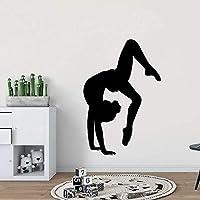 スポーツ体操レディースウォールステッカーモダンアート壁装飾装飾リビングルーム寝室取り外し可能なウォールステッカー壁画57CMX 85CM