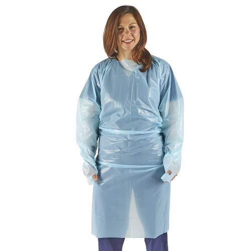 x50 långärmad medicinsk isolering klänningar med tumögla generera vätskebeständiga engångsklänningar – lämplig för både personal och patientanvändning