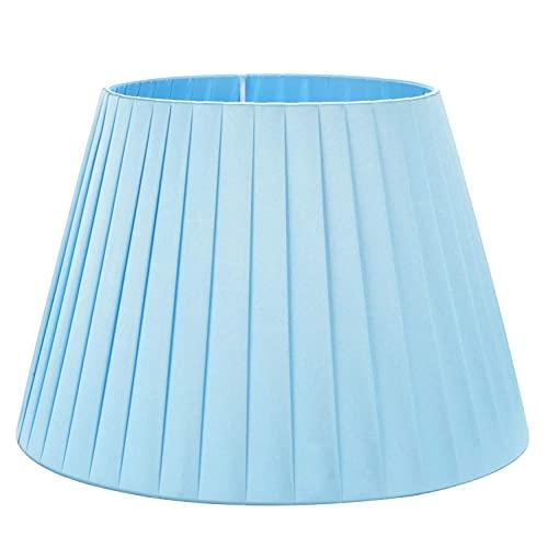 Pantalla Simple De Color Sólido, Pantallas De Tela Azul De Seda Tradicionales Y Clásicas Utilizadas En La Base E27 Para Luz De Mesa Lámpara De Araña Aplique De Pared Luces De Piso,36CM