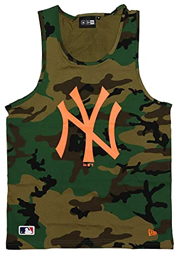 New Era York Yankees Tanktop MLB Shirt Baseball Trikot Fanshirt Camouflage grün - M