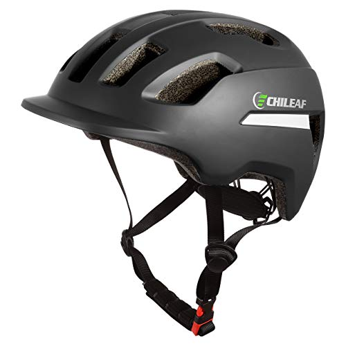CHILEAF Fahrradhelm Herren 56-64CM, CE-zertifizierter Fahrradhelm Herren mit reflektierendem Streifen, Robust Fahrradhelm Sicherheitsschutz Einstellbare Größe für erwachsenes Mountainbike